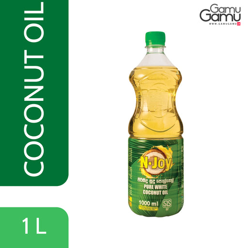 N-Joy Pure White Coconut Oil | 1000 ml,Foods, N-Joy - gamugamu.lk