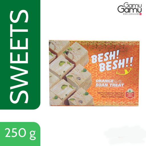 Orange Soan Papdi (Indian Sweets) | 250 g-GamuGamu.lk
