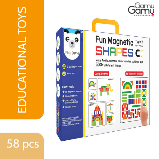 Play Panda - Fun Shape Big | 58 pcs,Toys, Kids & Baby - GamuGamu.lk