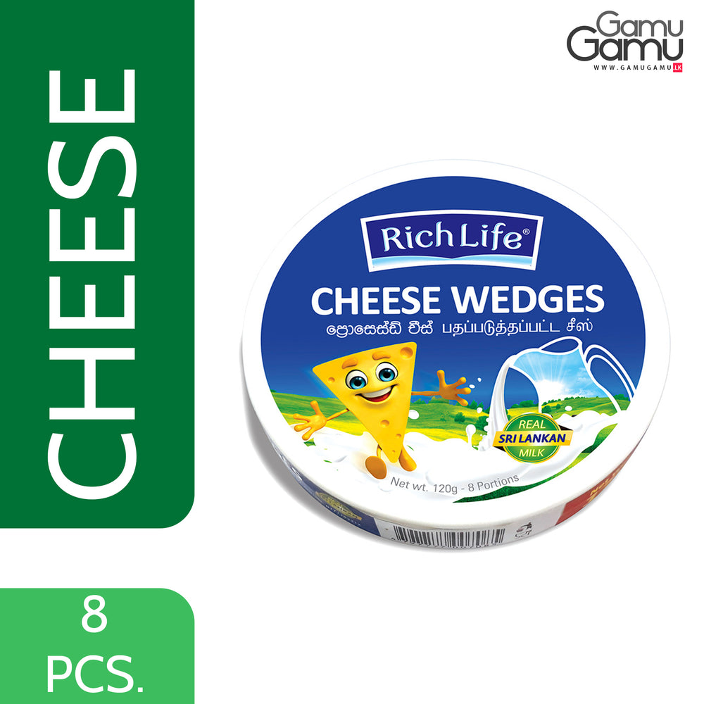 Rich Life Cheese Wedges | 8 Portions,Foods, Rich Life - gamugamu.lk