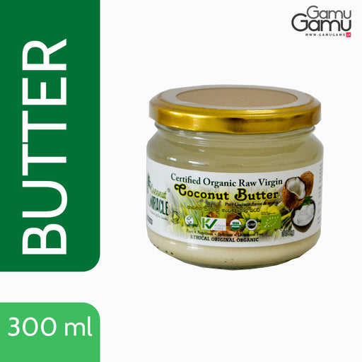 Coconut Miracle Organic Raw Virgin Coconut Butter | 300 ml,Foods - GamuGamu.lk