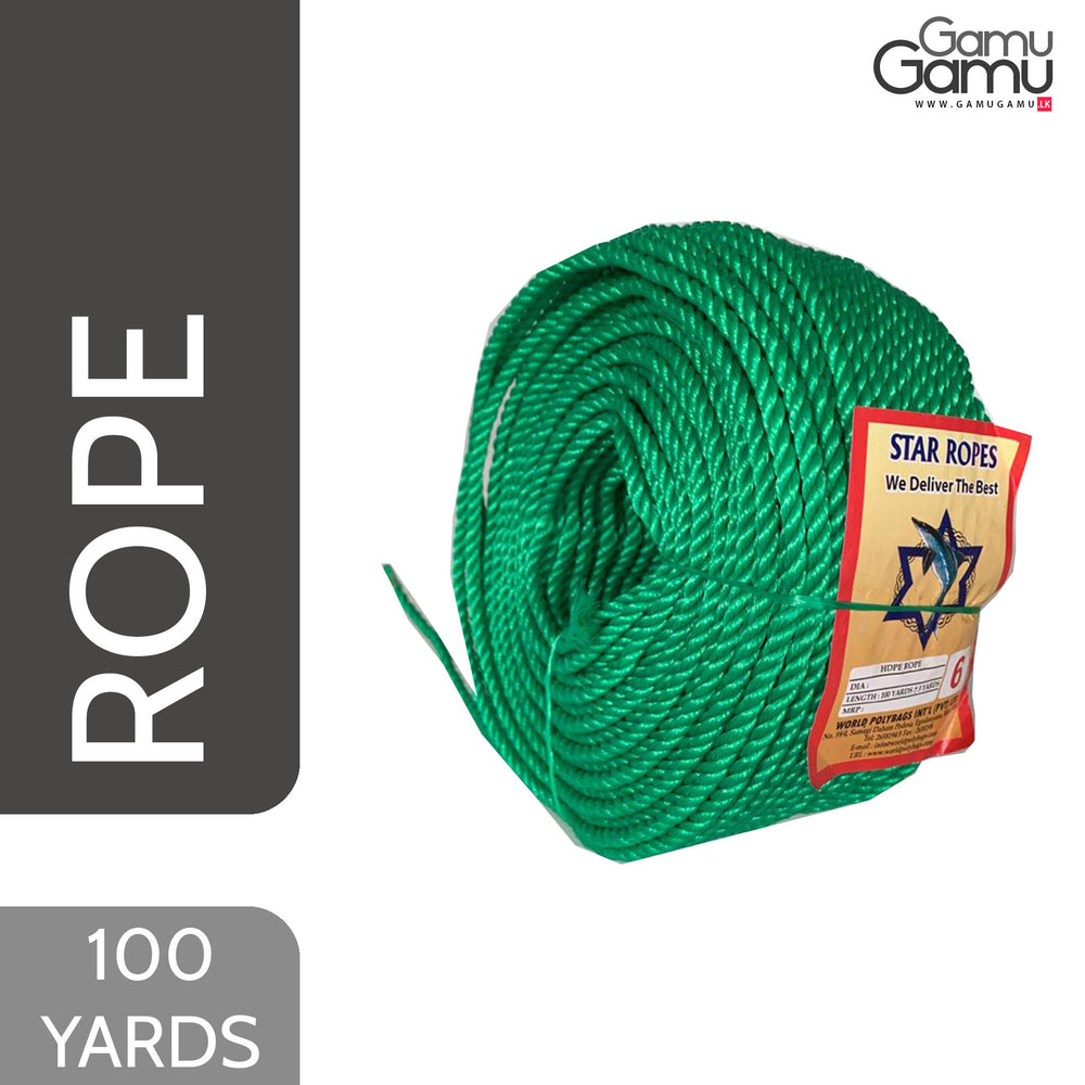 Star Ropes HDPE Rope (6mm) | 100 Yards-GamuGamu.lk