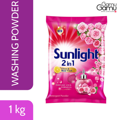 Sunlight Lemon & Rose Washing Powder | 1 kg,Home Care, Unilever - gamugamu.lk