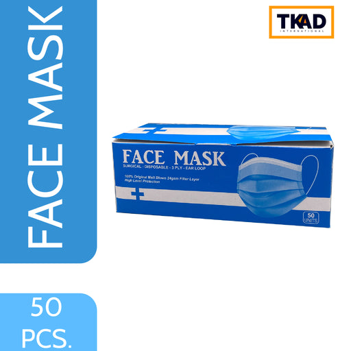 TKAD Disposable Surgical Face Mask | 50 Masks,Personal Care, TKAD - gamugamu.lk