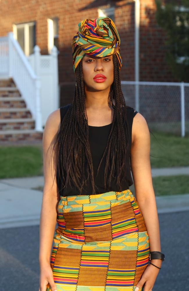 Pencil Skirt Kente African print