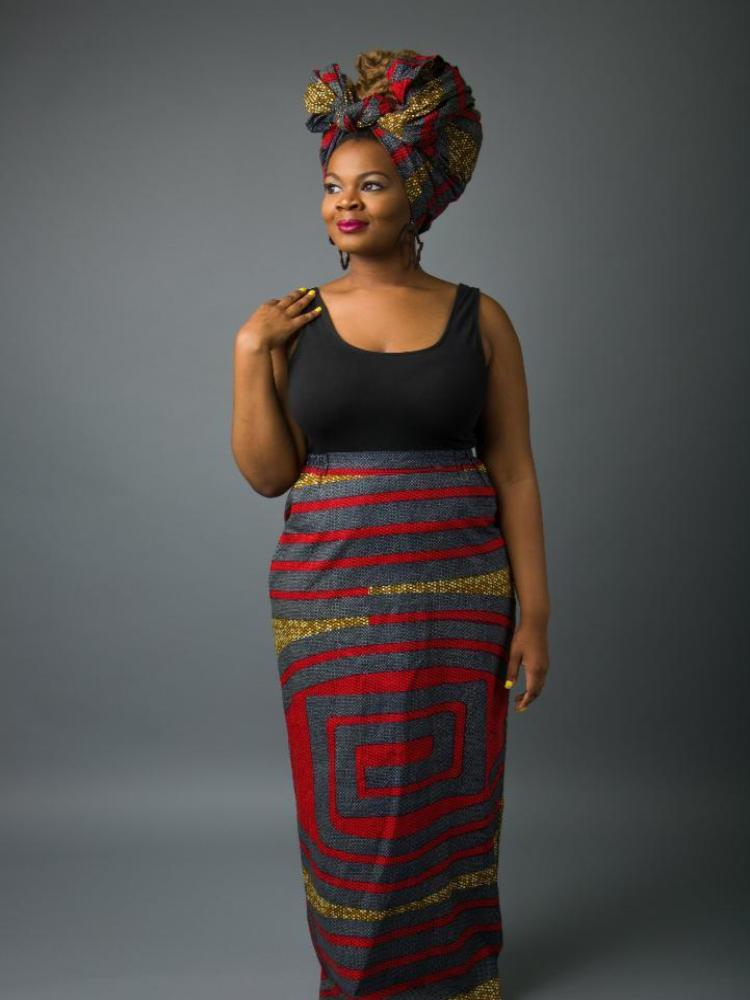 Nefertiti Long Pencil Skirt