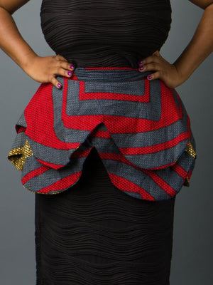 Nefertiti Double Peplum Belt