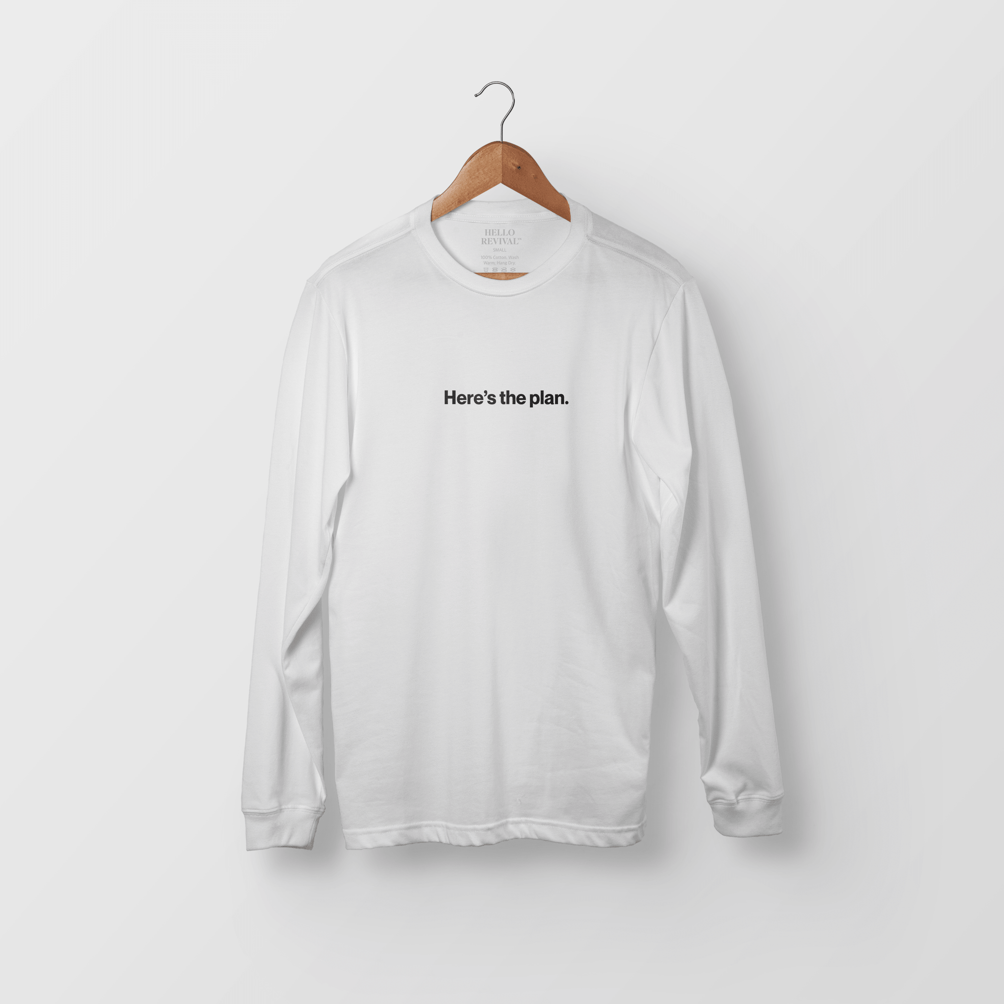 """Here's the Plan"" Long Sleeve - Hello Revival"