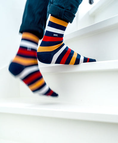 casual colorful long socks outfit   dstinctive