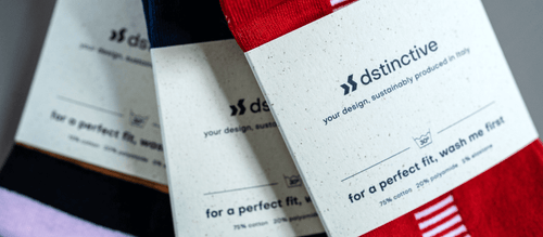 Personalized socks with recycled wrap, made from recycled beer coasters