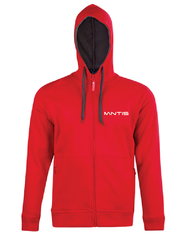 MANTIS PASSION PURSUIT Zip Hoodie MENS's - Red/Charcoal