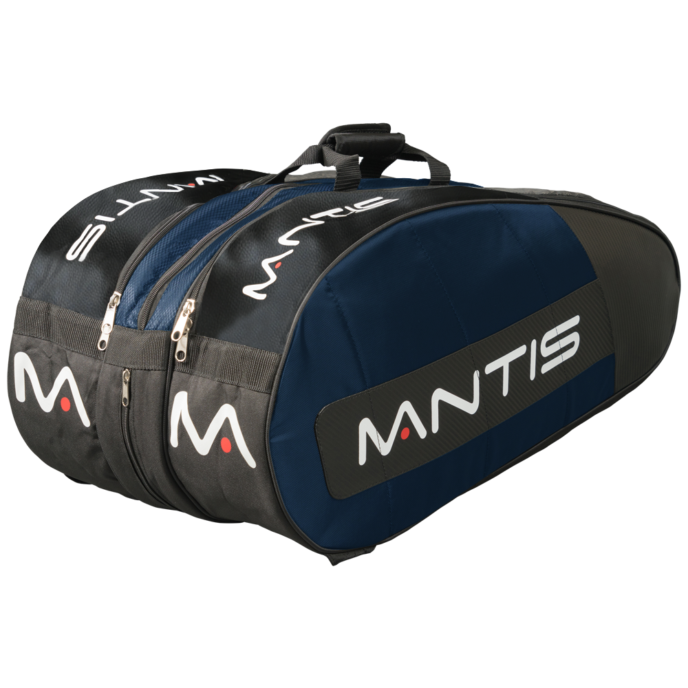 MANTIS Racquet Thermo Bag - Blue/Black 12-Pack