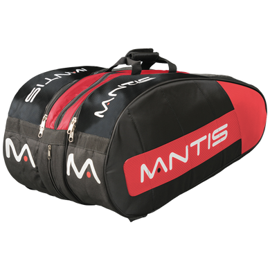 MANTIS Racquet Thermo Bag - Black/Red 12-Pack
