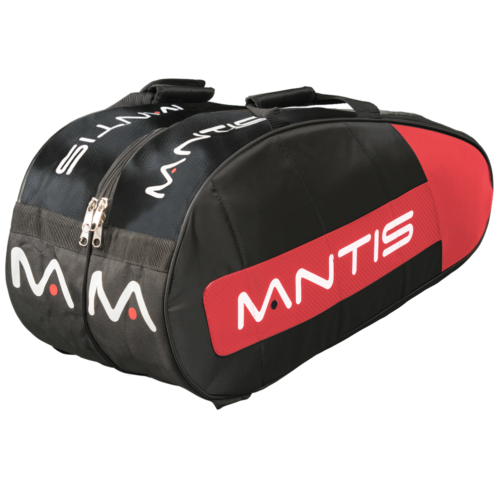 MANTIS Racquet Thermo Bag - Black/Red 6-Pack