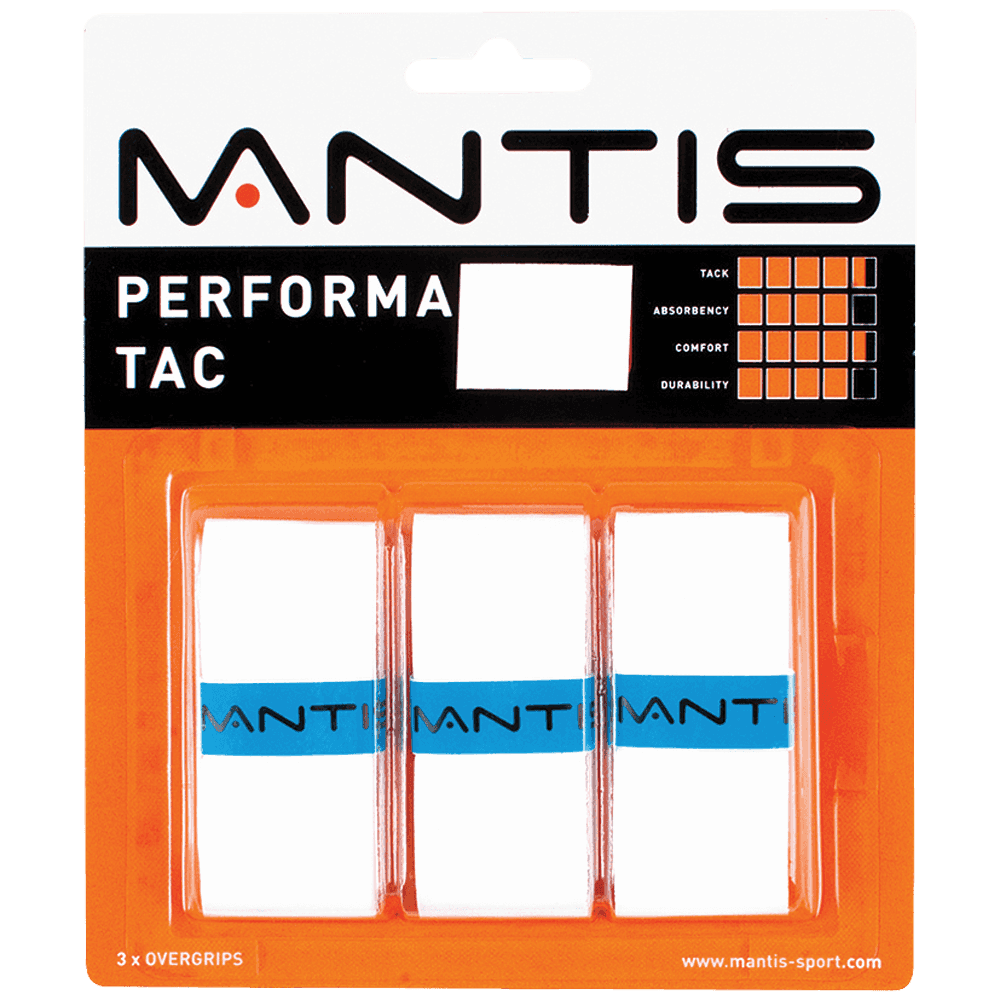 MANTIS Performa Tac Overgrip - White (3x)