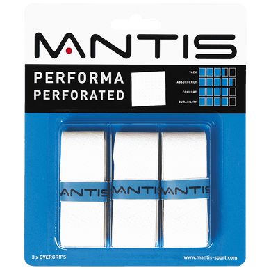 MANTIS Performa Perforated Overgrip - White (3x)