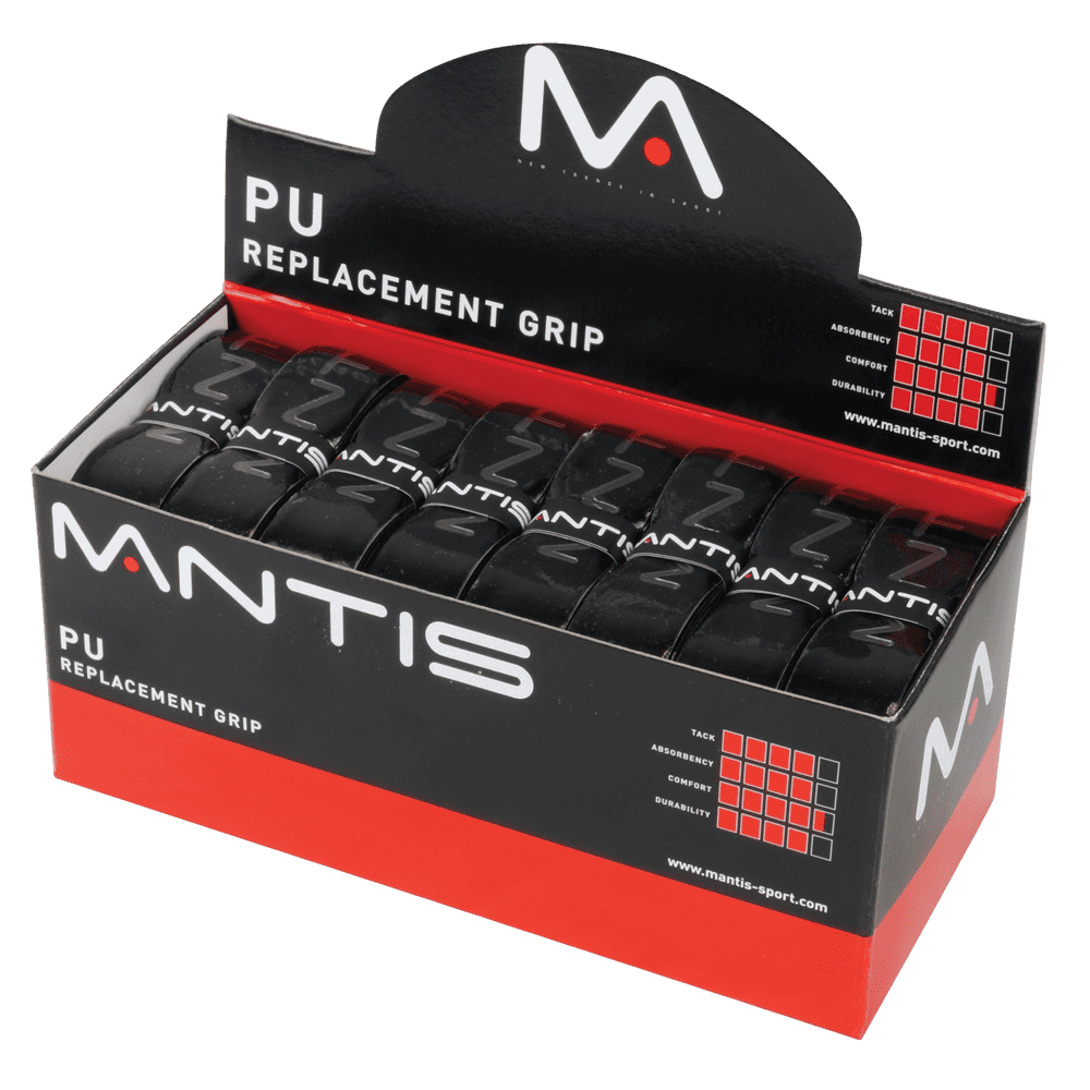 MANTIS PU Replacement Grips- Black 1.6mm (24x)