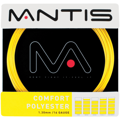 MANTIS Comfort Polyester String Set- Yellow (12m)