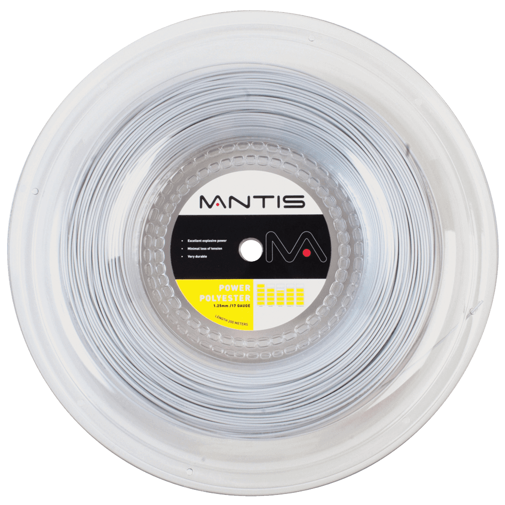 MANTIS Power Polyester String Reel- Silver (200m)