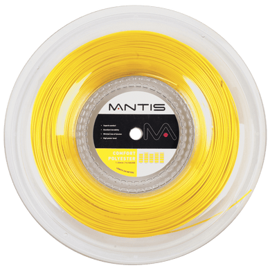 MANTIS Comfort Polyester String Reel- Yellow (200m)