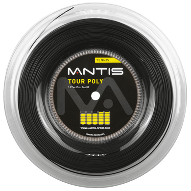 MANTIS Tour Polyester String Reel- Black (200m)