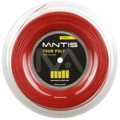 MANTIS Tour Polyester String Reel- Red (200m)