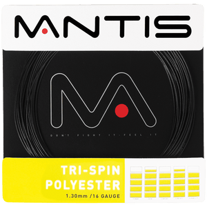 MANTIS Tri-Spin Polyester String Set- Black (12m)