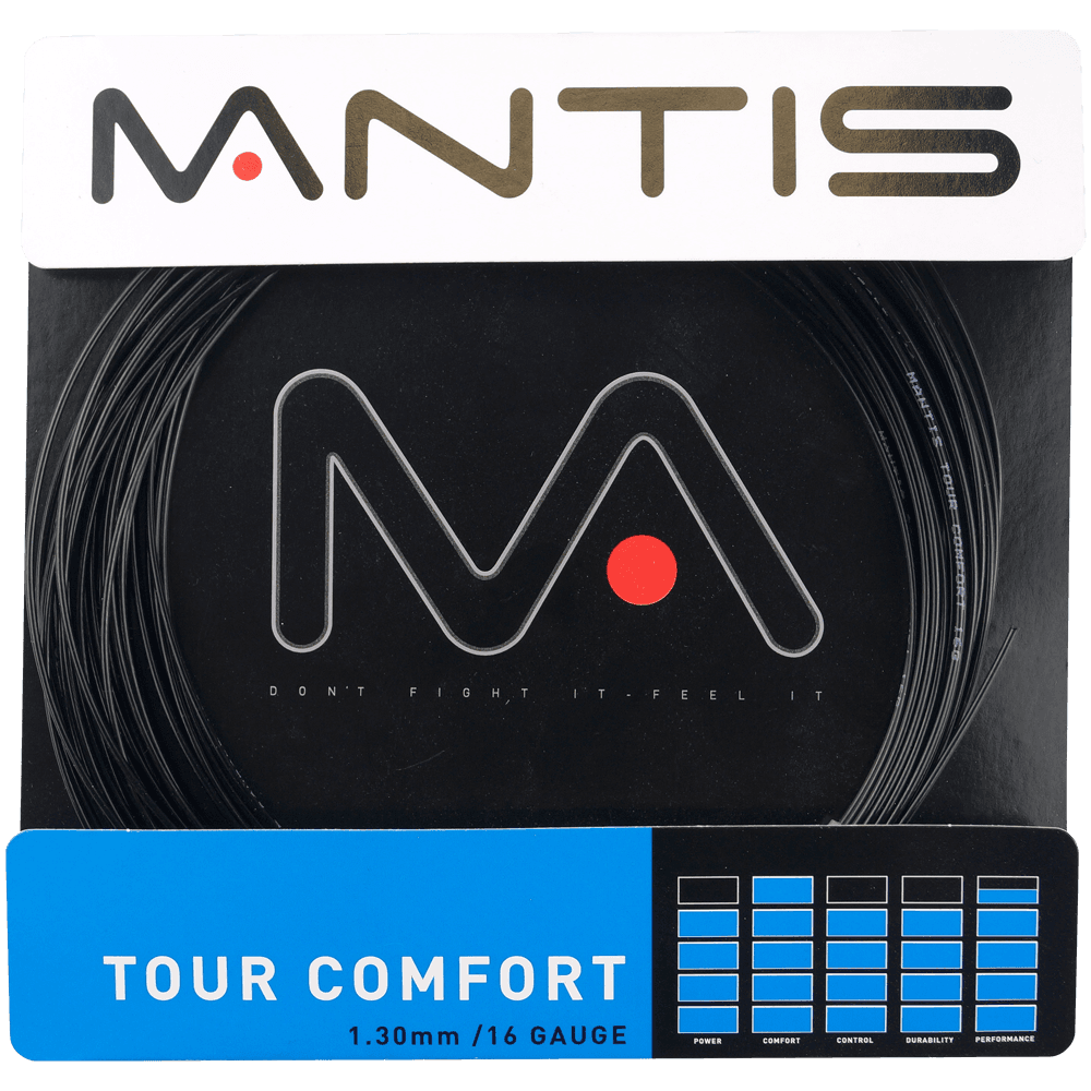 MANTIS Tour Comfort String Set- Black 1.30mm (12m)