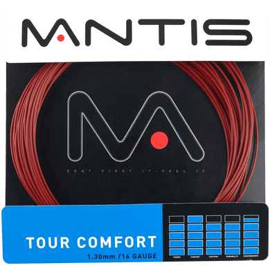 MANTIS Tour Comfort String Set- Red 1.30mm (12m)