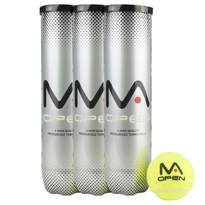 MANTIS Open Tennis Balls - VALUE PACK (1 DOZEN BALLS)