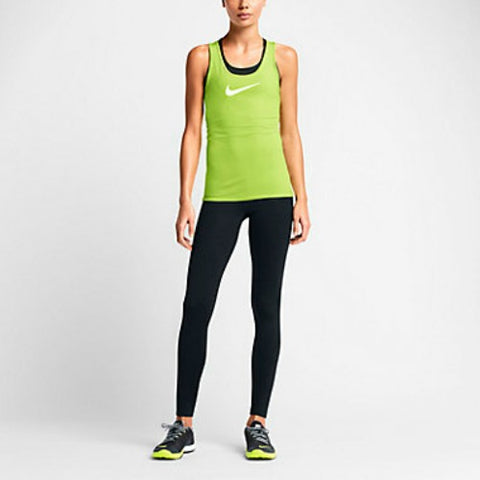 Nike Women's Pro Core Compression Tights Leggings Black Volt