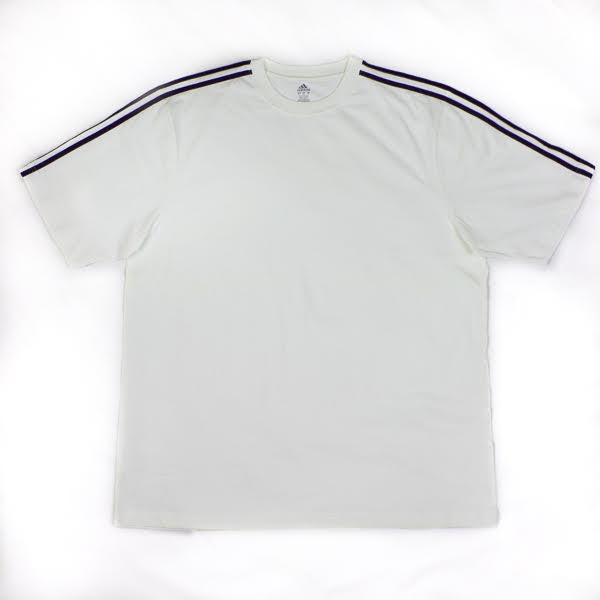 adidas Men's 3 Stripe Short Sleeve Tee
