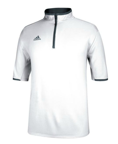 Adidas Men's Climalite Shockwave Short Sleeve 1/4 Zip Jacket