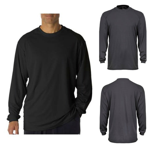 Bob's Sportswear Men's Core Long Sleeve Tee Dry Performance Shirt