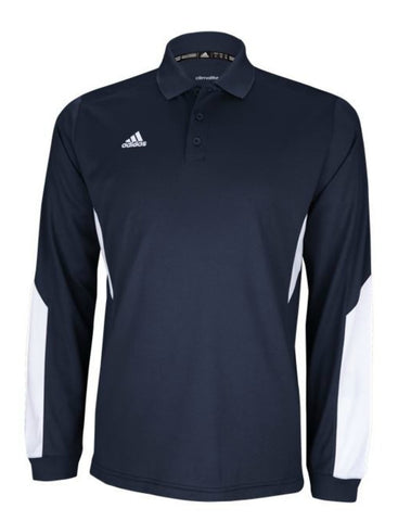 Adidas Mens Climalite Long Sleeve Sideline Polo
