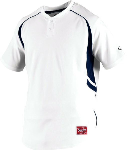 Rawlings Men's ROAD 2-Button Short Sleeve Jersey