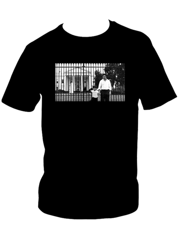 'Illegal Business Controls America' Pablo Escobar White House Photo T-Shirt (Black)