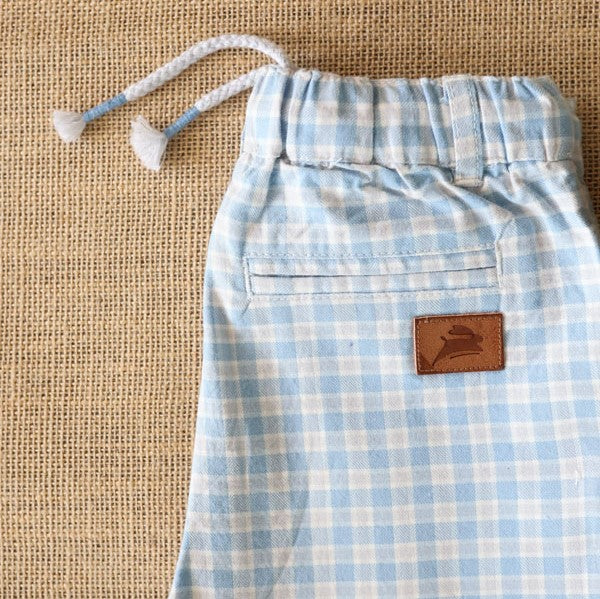 Yarn dyed checked chinos