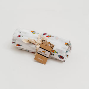 of-fish-ally awesome muslin swaddle