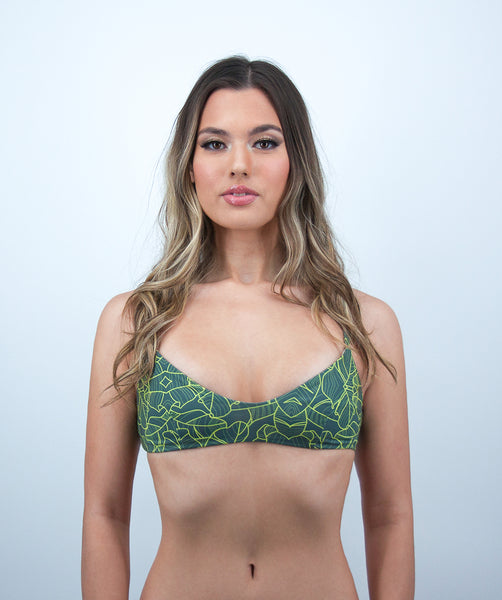 Leilani Bralette Bikini Top in Jungle Print
