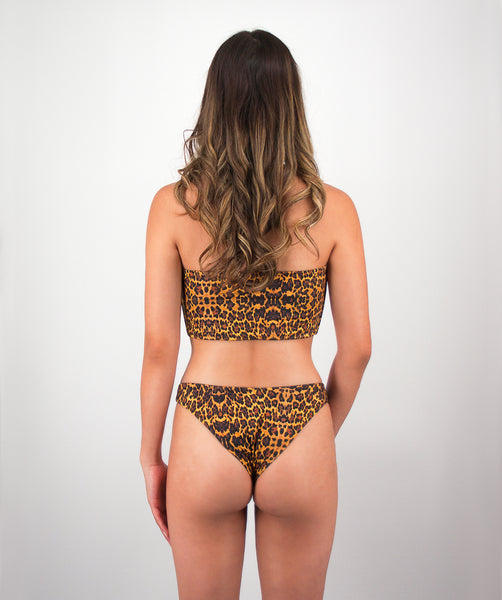 Mira High Cut Leopard Print Bikini Bottom
