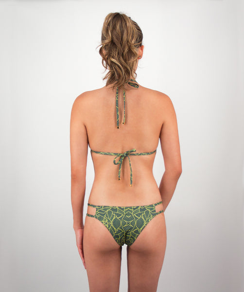 Valeria Two Strap Bikini Bottom in Jungle Print