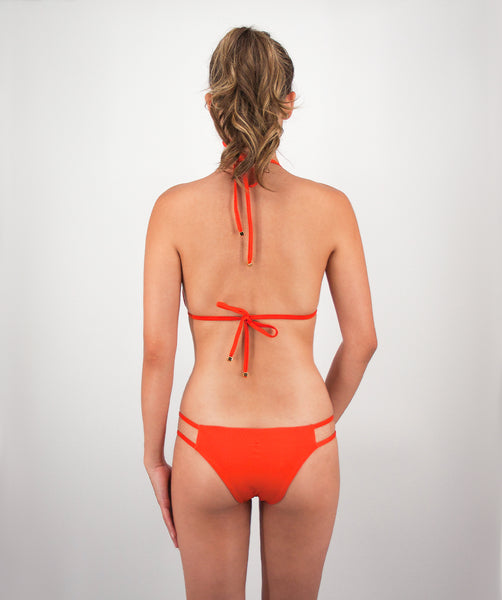Valeria Bikini Bottom in Reef orange