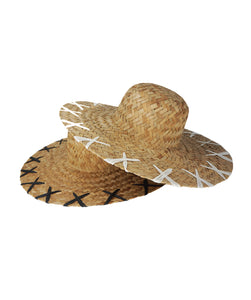 Rebel Woven Straw Hat in Midnight