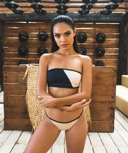 Load image into Gallery viewer, Noa Kai Elle Adjustable Strap Bottom in Nude and Black Bikini