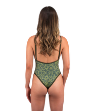 Load image into Gallery viewer, Gisele So Chic One Piece Swimsuit Hand-Drawn Jungle Print