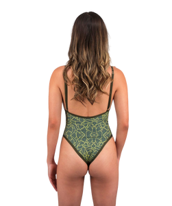 Gisele So Chic One Piece Swimsuit Hand-Drawn Jungle Print