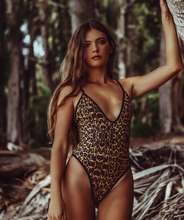 Load image into Gallery viewer, Top selling swimsuit, Gisele Sexy One Piece Swimsuit with High Cut Thigh and Cheeky Butt in Leopard Print