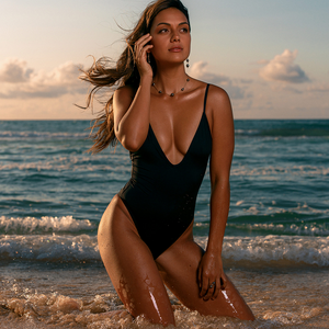 Gisele One Piece in Midnight Black