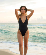 Load image into Gallery viewer, Gisele Midnight Black One Piece Swimsuit